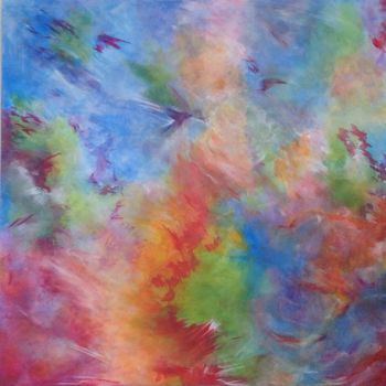 """Painting titled """"Colour Run"""" by Angie Chapman, Original Art, Acrylic"""