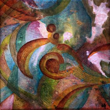"""Painting titled """"Microcosmos #42"""" by Anne Brigaud, Original Art,"""