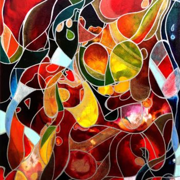 """Painting titled """"Décomposition #3"""" by Anne Brigaud, Original Art,"""