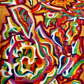 Painting, marker, artwork by Anne Brigaud