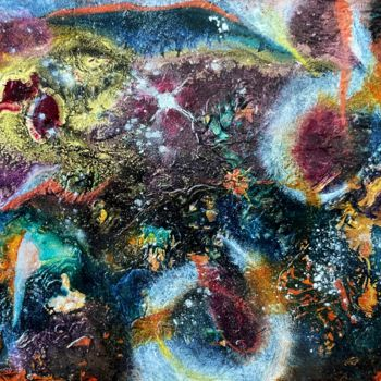 """Painting titled """"Galaxie A2"""" by Anne Brigaud, Original Art, Acrylic"""