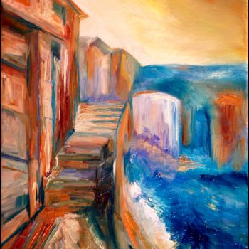 """Painting titled """"Rue des Remparts"""" by Anne Brigaud, Original Art,"""