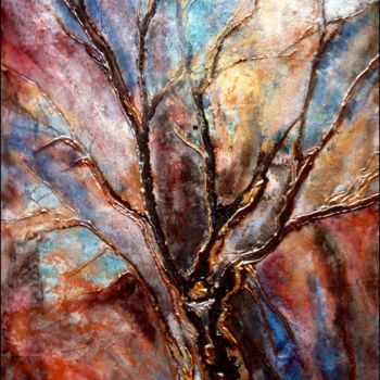 """Painting titled """"Automne finissant"""" by Anne Brigaud, Original Art,"""