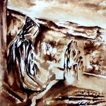 """Painting titled """"Noir silence"""" by Anne Brigaud, Original Art,"""