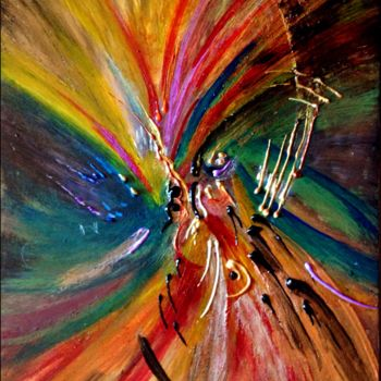 """Painting titled """"Microcosmos #7"""" by Anne Brigaud, Original Art,"""
