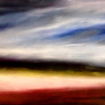 """Painting titled """"Rive ou dérive"""" by Anne Brigaud, Original Art,"""