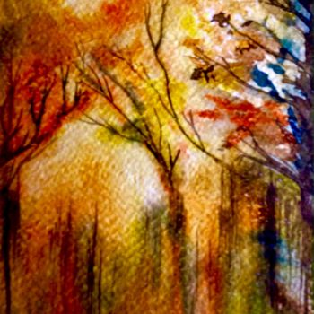 """Painting titled """"Soleil caché"""" by Anne Brigaud, Original Art,"""
