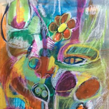 """Drawing titled """"The Beast"""" by Anne-Marie Delaunay-Danizio, Original Art, Pastel"""