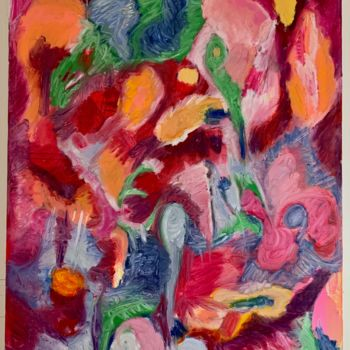 """Painting titled """"Sneaking Away"""" by Anne-Marie Delaunay-Danizio, Original Art, Oil"""