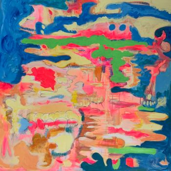 """Painting titled """"Smoke and Clouds #4"""" by Anne-Marie Delaunay-Danizio, Original Art, Acrylic"""