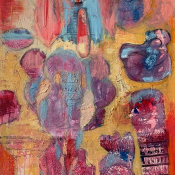"""Painting titled """"Let us in ( ghosts…"""" by Anne-Marie Delaunay-Danizio, Original Art, Acrylic"""