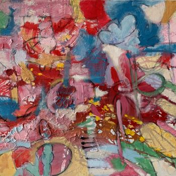 """Painting titled """"Unsettled"""" by Anne-Marie Delaunay-Danizio, Original Art, Acrylic"""