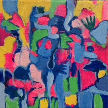 """Painting titled """"Lightning the Cave"""" by Anne-Marie Delaunay-Danizio, Original Art, Acrylic"""