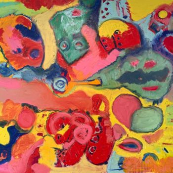 """Painting titled """"Evolution Adaptation"""" by Anne-Marie Delaunay-Danizio, Original Art, Oil"""