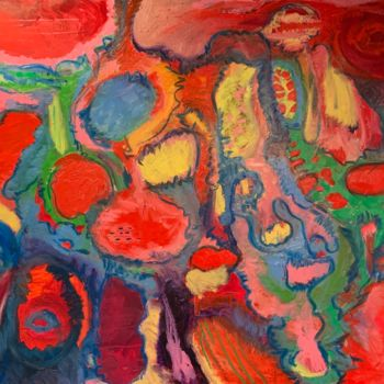 Color Painting, oil, abstract, artwork by Anne-Marie Delaunay-Danizio