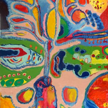 """Painting titled """"Bitter Seeds"""" by Anne-Marie Delaunay-Danizio, Original Art, Oil"""