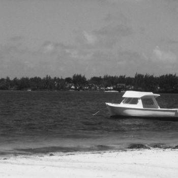 """Photography titled """"Boat and Beach"""" by Ak, Original Art,"""