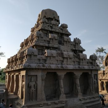 """Photography titled """"Indian Temple Archi…"""" by Ak, Original Art, Digital Photography"""