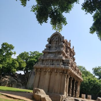 """Photography titled """"Indian Rock Temple"""" by Ak, Original Art, Digital Photography"""