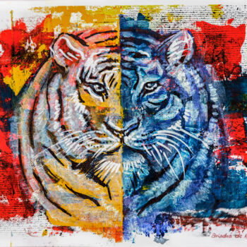 """Painting titled """"Tiger"""" by Ariadna De Raadt, Original Art, Acrylic"""