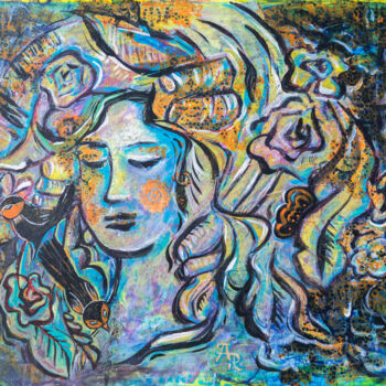 """Painting titled """"Face of Spring"""" by Ariadna De Raadt, Original Art, Acrylic"""