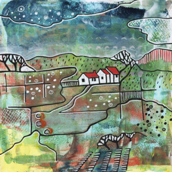 Landscape Painting, acrylic, illustration, artwork by Ariadna De Raadt