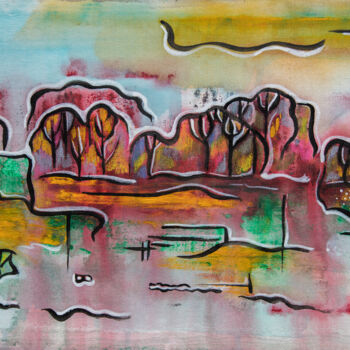 """Painting titled """"Monday landscape"""" by Ariadna De Raadt, Original Art, Acrylic"""