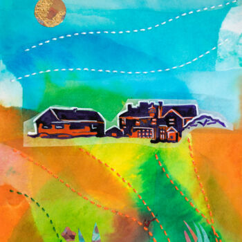 """Painting titled """"Quiet and calm - La…"""" by Ariadna De Raadt, Original Art, Collages"""