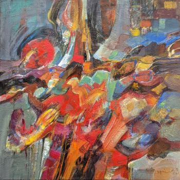 Color Painting, acrylic, abstract, artwork by Armen Ghazayran (Nem)