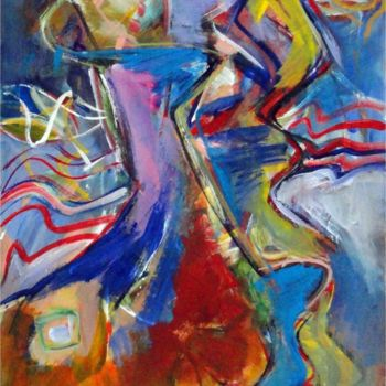 Painting, oil, abstract, artwork by Armen Ghazayran (Nem)