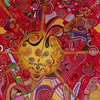"""Painting titled """"musician in the sun"""" by Helene, Original Art,"""