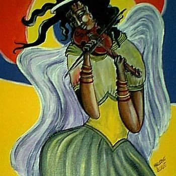 """Painting titled """"and heaven has musi…"""" by Helene, Original Art,"""