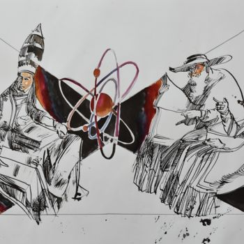 """Painting titled """"Nuclear Doctrine"""" by Roman Bonchuk, Original Art, Ink"""