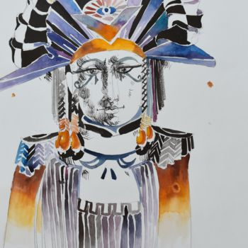 """Painting titled """"World Queen"""" by Roman Bonchuk, Original Art, Ink"""