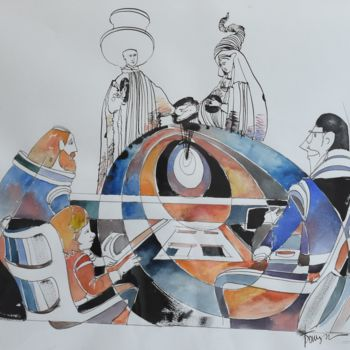"""Painting titled """"The Last Wagner Sym…"""" by Roman Bonchuk, Original Art, Ink"""