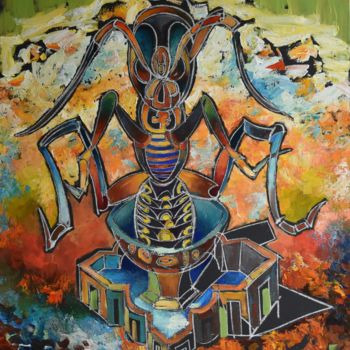"""Painting titled """"Insect Lord"""" by Roman Bonchuk, Original Art, Acrylic"""