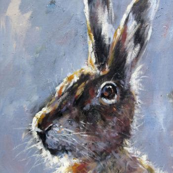 """Painting titled """"Rabbit #102 on canv…"""" by James Shang, Original Art, Oil"""