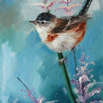 Bird Painting, oil, artwork by James Shang