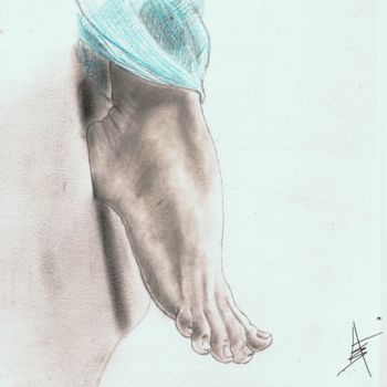 """Drawing titled """"Angel's Foot"""" by Askew Mind, Original Art, Pencil"""