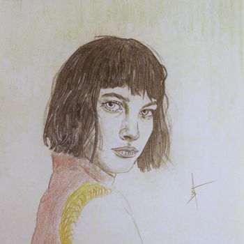 """Drawing titled """"Sister Morphine"""" by Askew Mind, Original Art, Pencil"""