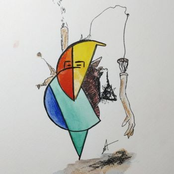"""Drawing titled """"The decision taker"""" by Askew Mind, Original Art, Ink"""