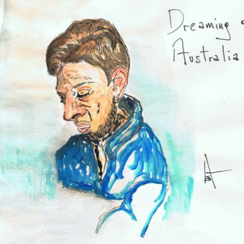 """Painting titled """"Dreaming of Austral…"""" by Askew Mind, Original Art, Watercolor"""