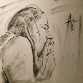 """Drawing titled """"Ma petite connarette"""" by Askew Mind, Original Art, Charcoal"""