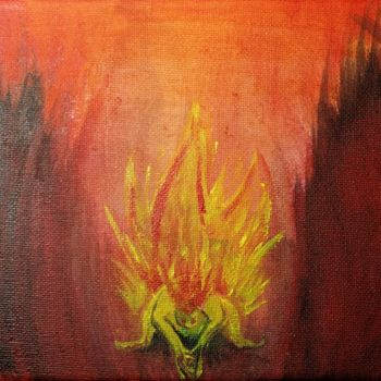 """Painting titled """"Fire Elemental"""" by Askew Mind, Original Art, Acrylic"""