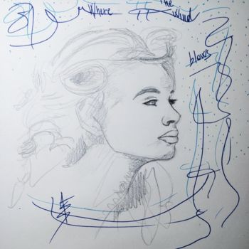 """Drawing titled """"Where the wind blow…"""" by Askew Mind, Original Art, Pencil"""