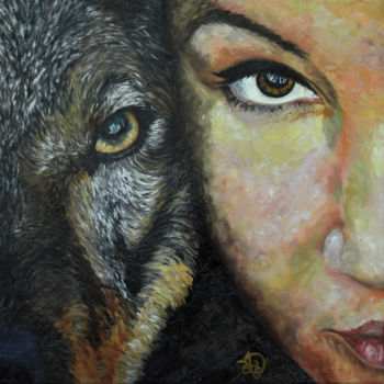 Painting, oil, expressionism, artwork by Audrey Delaye
