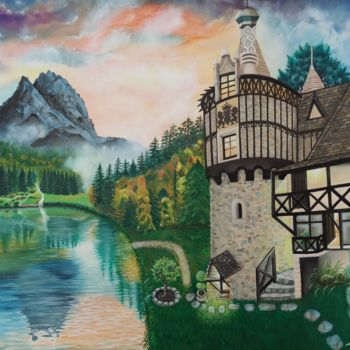 """Painting titled """"Dream Living"""" by Ausra Manamangas, Original Art, Oil Mounted on Stretcher frame"""