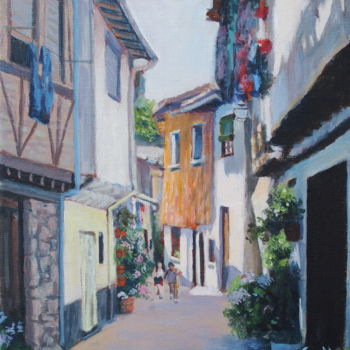 """Painting titled """"Histoire de rues II…"""" by Azucena, Original Art, Acrylic"""