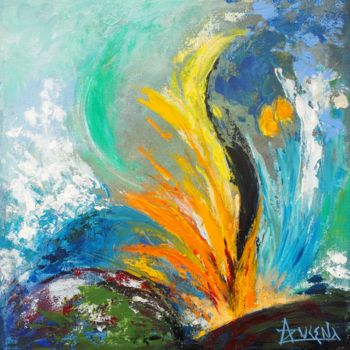 Painting, acrylic, abstract, artwork by Azucena