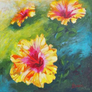 Painting, acrylic, impressionism, artwork by Azucena